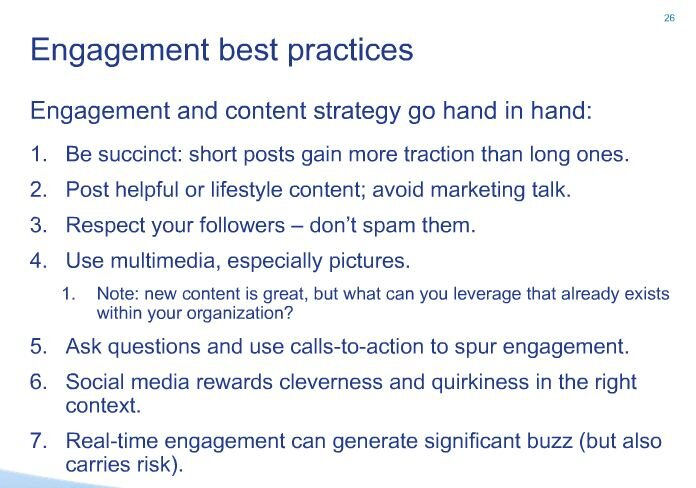 social media engagement best practices by wildfire webinar february 2013