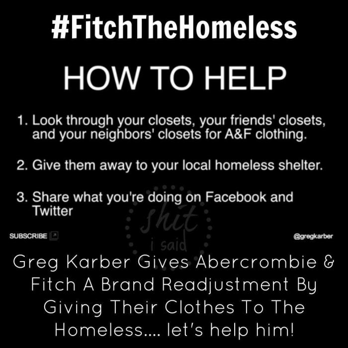 how to help #fitchthehomeless call to action viral strategy