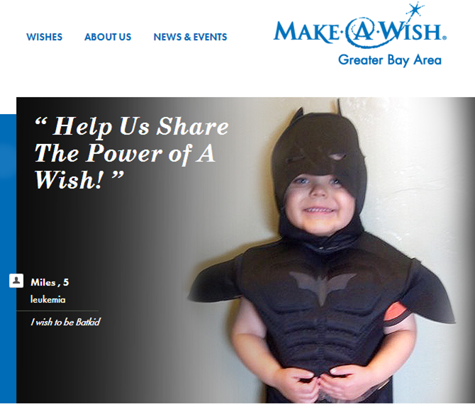 impact analysis of miles wishing to become batkid thanks to makeawish